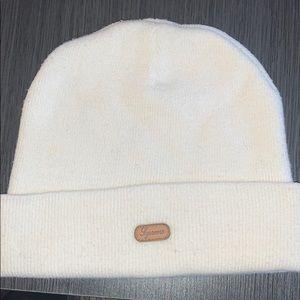 White Supreme beanie hat